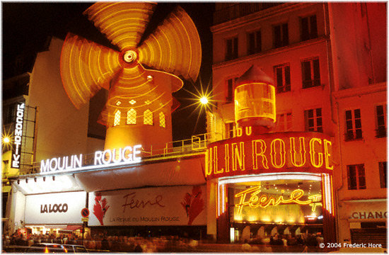 The fabled Moulin Rouge in Montmarte, Paris