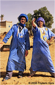 Friendly Berber guides, Merzouga